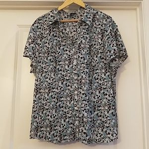 East 5th Woman Abstract Polka Dot Size 3X Top